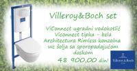 Villeroy & Boch ARCHITECTURA - Akcijski komplet za montažu konzolne wc šolje