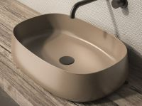 Olympia PADDLE nadgradni umivaonik u mat braon obradi
