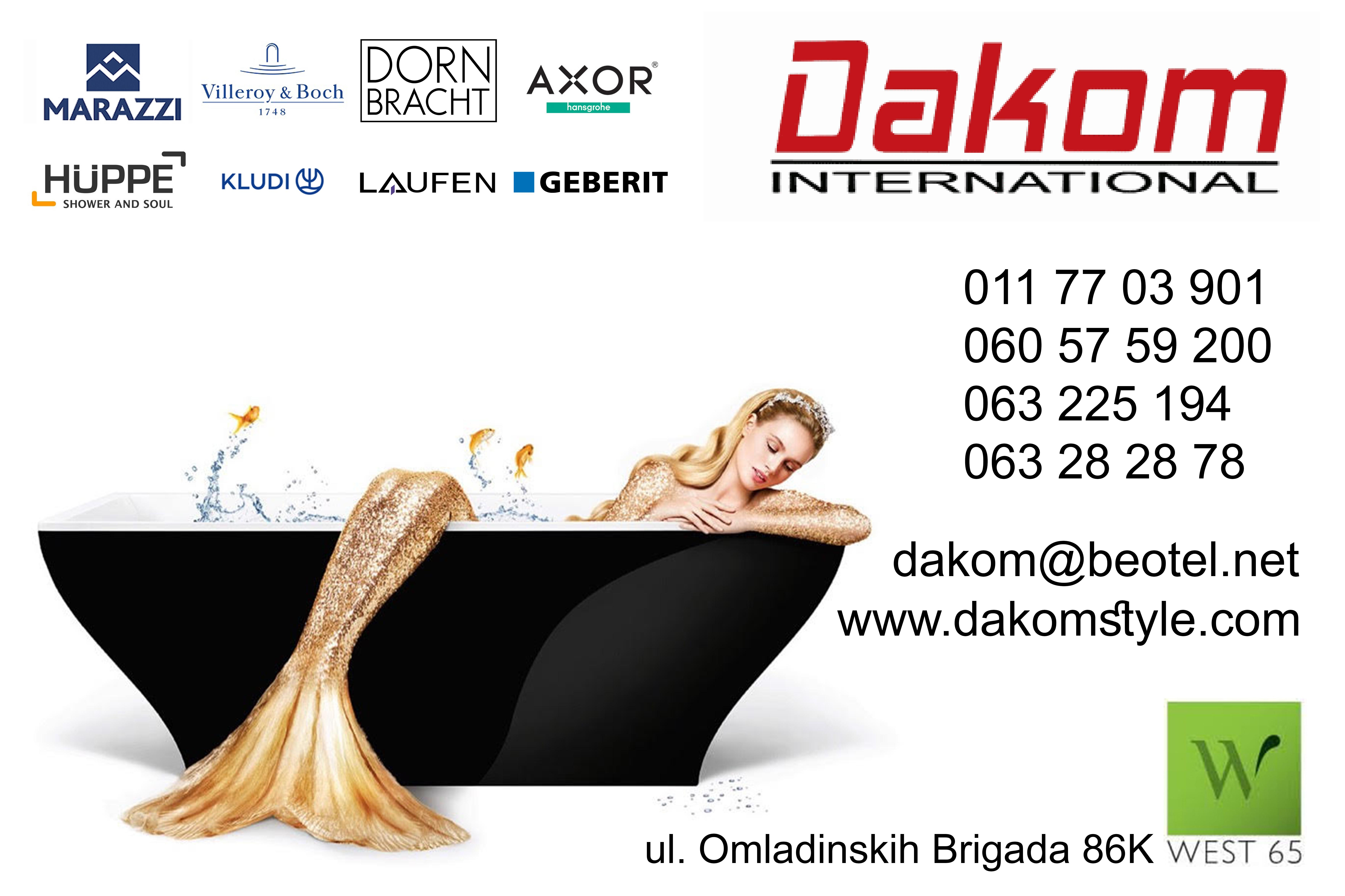 dakom international huppe tuš kabine