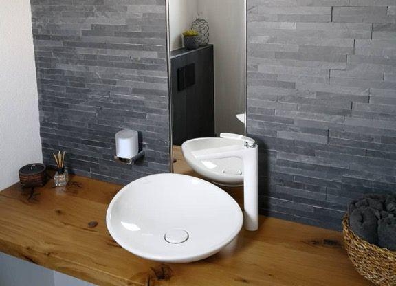 villeroy & boch my nature lavabo 45 cm + kludi balance white visoka bela baterija za umivaonik