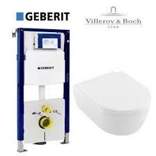 Akcijski komplet za montažu konzolne wc šolje - Villeroy & Boch + Geberit