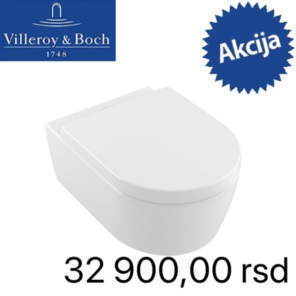 VILLEROY & BOCH KONZOLNA WC ŠOLJA AVENTO SA DIRECT FLUSH SISTEMOM ISPIRANJA I SLOW CLOSE WC DASKOM