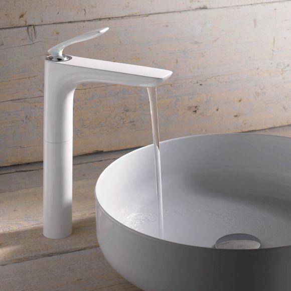 kludi balance visoka bela batrerija za umivaonik