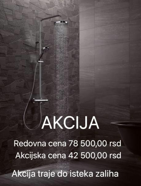 KLUDI A QA Dual Shower Sistem usponski tuš sa termostatskom baterijom i tuš ružom