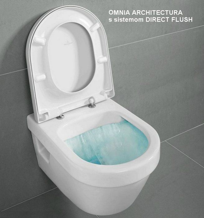 villeroy & boch konzolna wc šolja omnia direct flush
