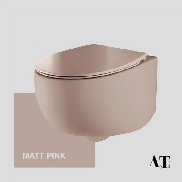 AeT Italia konzolna wc šolja u Pink mat obradi