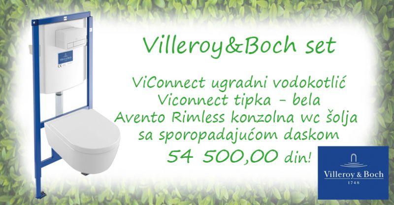 Villeroy & Boch AVENTO - Akcijski komplet za montažu konzolne wc šolje