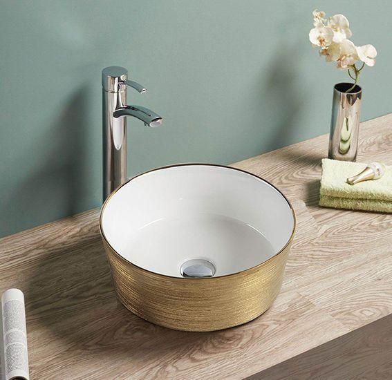 Zlatni nadgradni lavabo