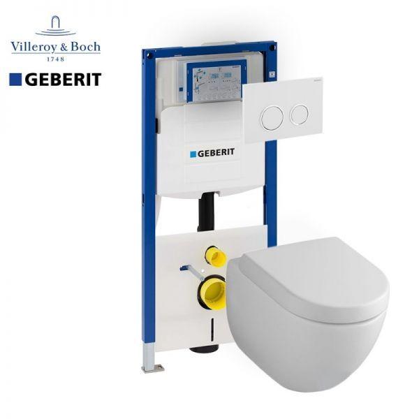 Akcijski komplet za ugradnju konzolne wc šolje - Villeroy & Boch + Geberit