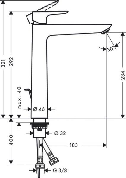 hansgrohe talis e visoka baterija za umivaonik