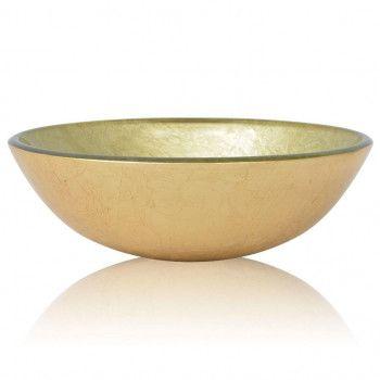 Rubicer Gold - nadgradni umivaonik od stakla